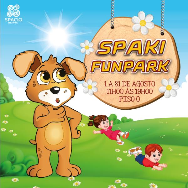 Spaki FunPark com um escorrega gigante!