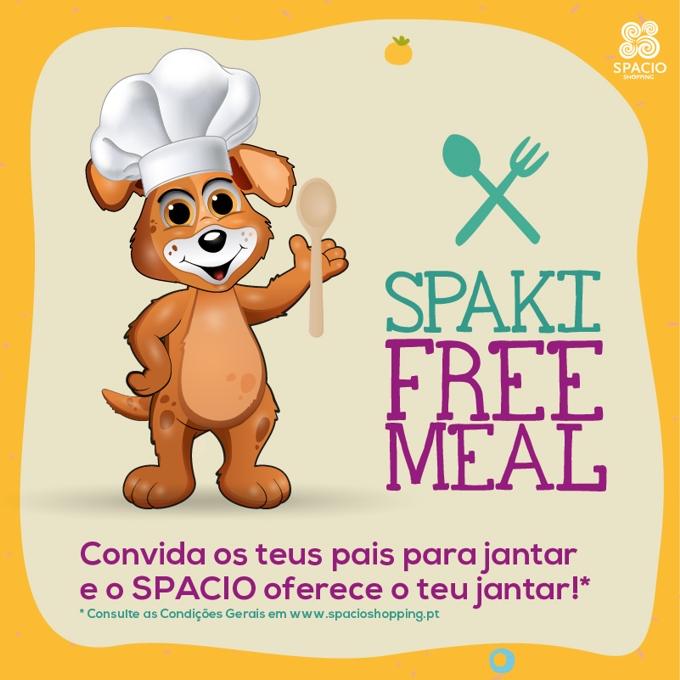 Free Meal nos restaurantes do Spacio