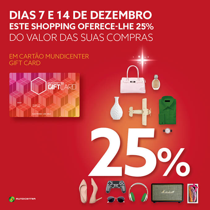 Receba 25% do valor das suas compras