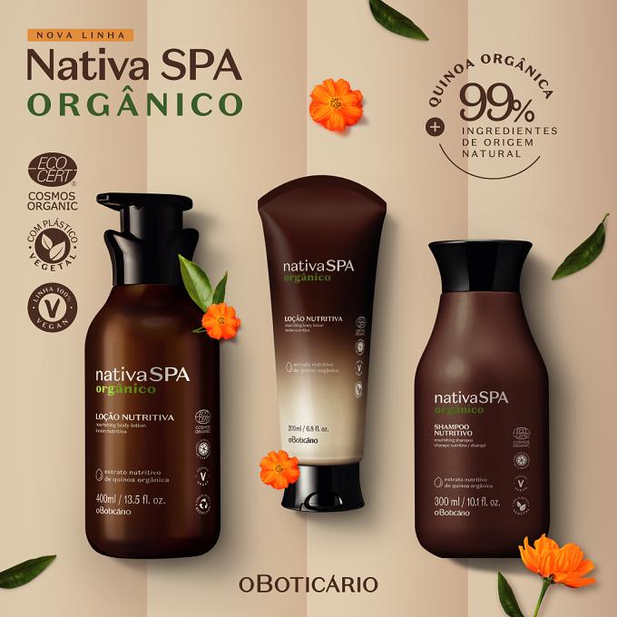 Primeira linha com produtos orgânicos certificados