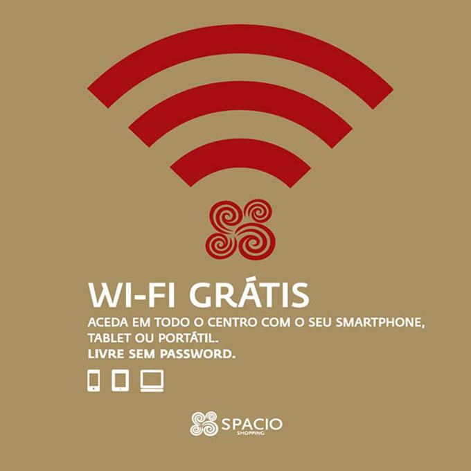 Wi-Fi grátis no Spacio Shopping