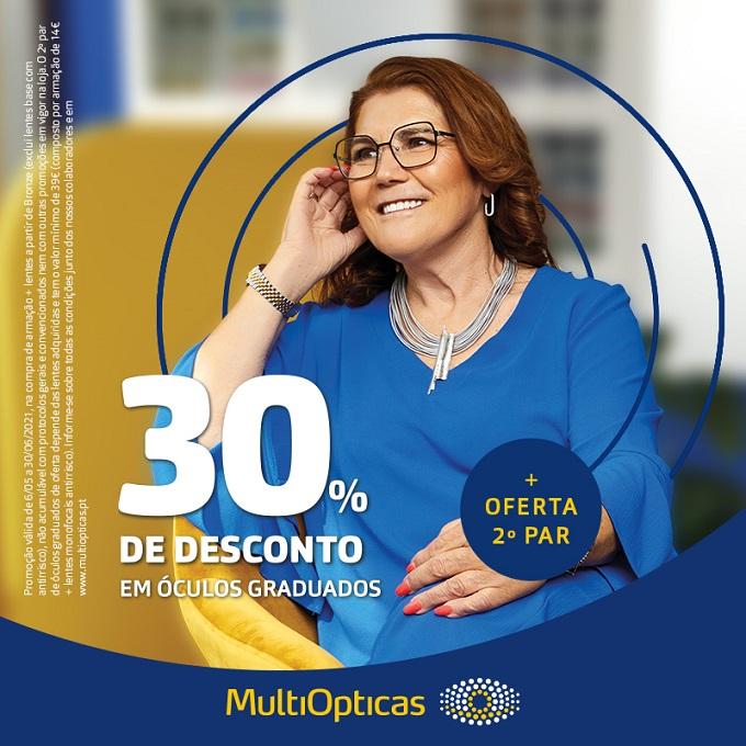 30% de desconto na Multiopticas
